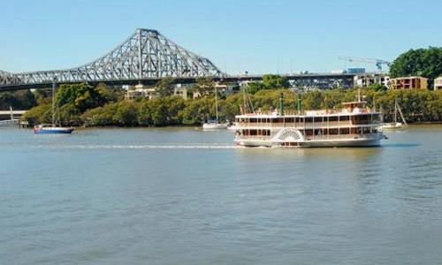 See the Story Bridge up close on Kookaburra Queens