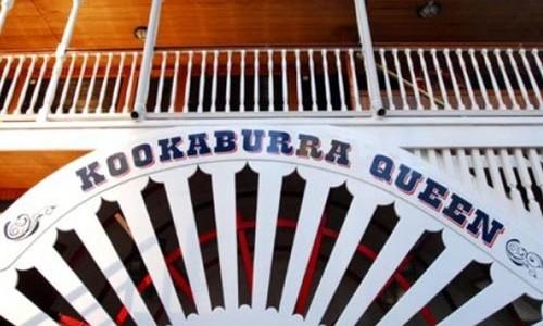 Paddle wheeler cruises on the Brisbane River