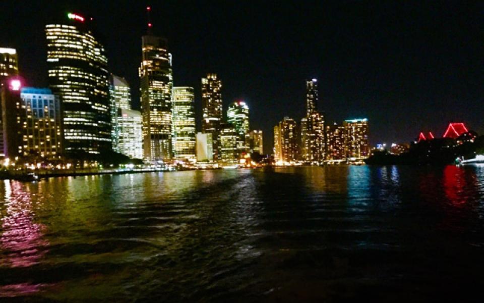 City Lights on board Kookaburra Dinner Cruise