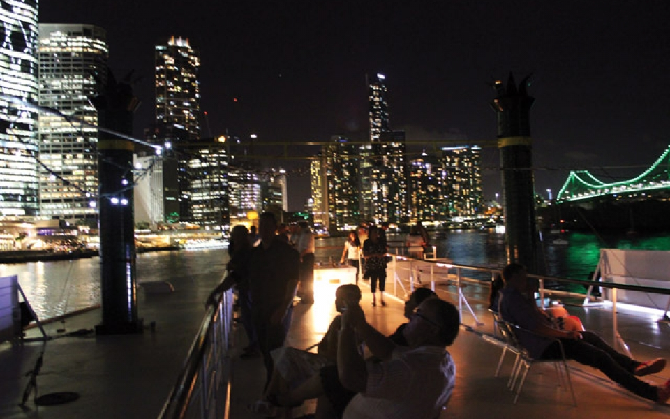 Stunning views of Brisbane from the rooftop deck