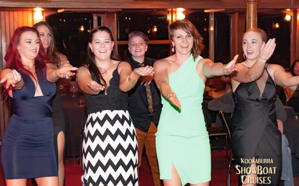 Dancing the night away on board the City Lights Dinner Cruise