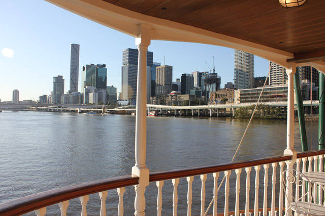 Brisbane City from the River on board High Tea Cruise