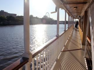 Water views on board High Tea cruise, Brisbane