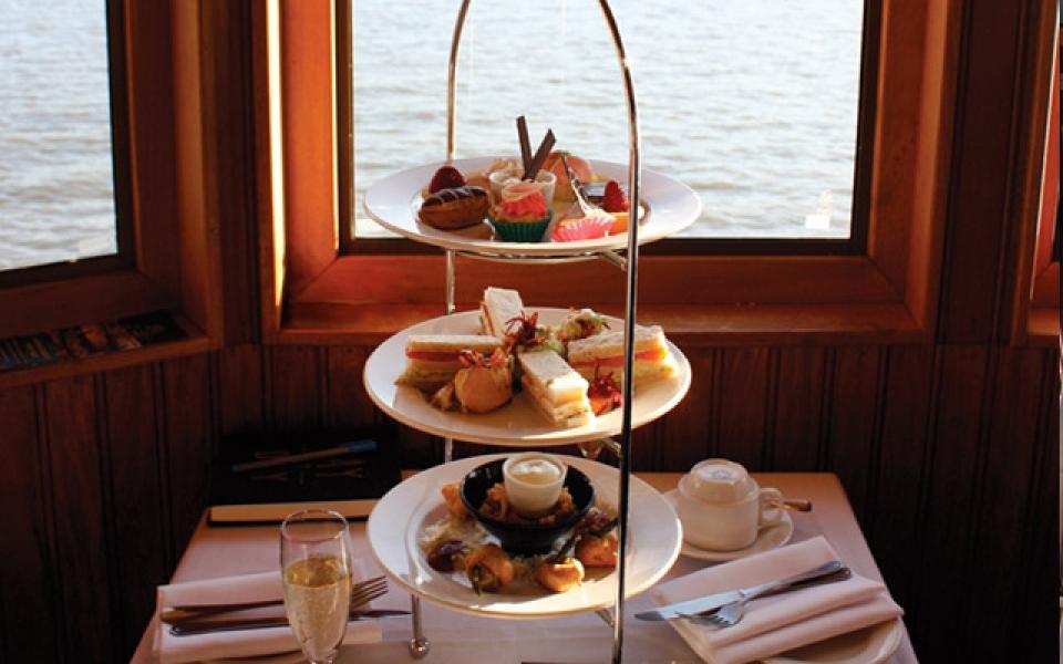 High Tea Stand on board Kookaburra Queen