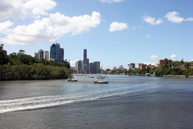 Views of Brisbane from Kookaburra Queen