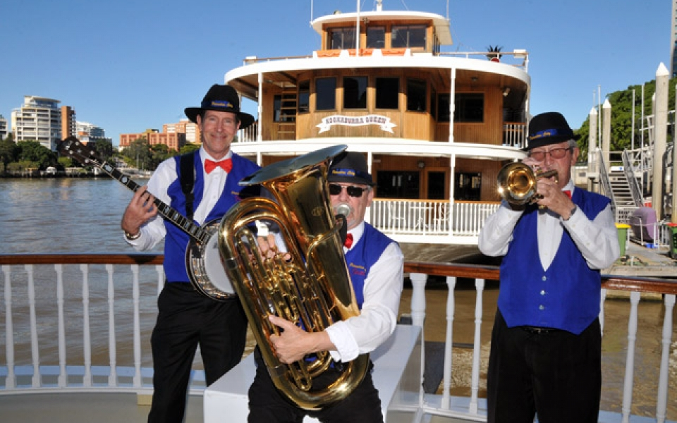 Live jazz on board every weekend