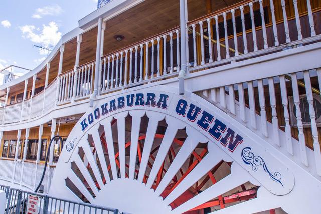 Lunch on board the Kookaburra Queens