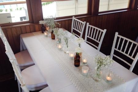 Vintage style wedding table setting, Kookaburra Queen