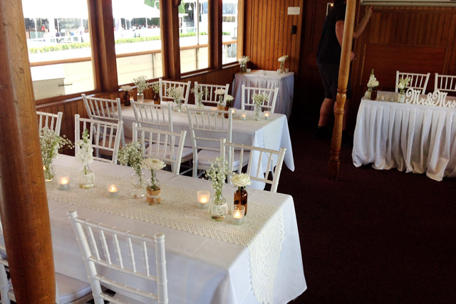 Vintage Themed wedding on Kookaburra Queen II