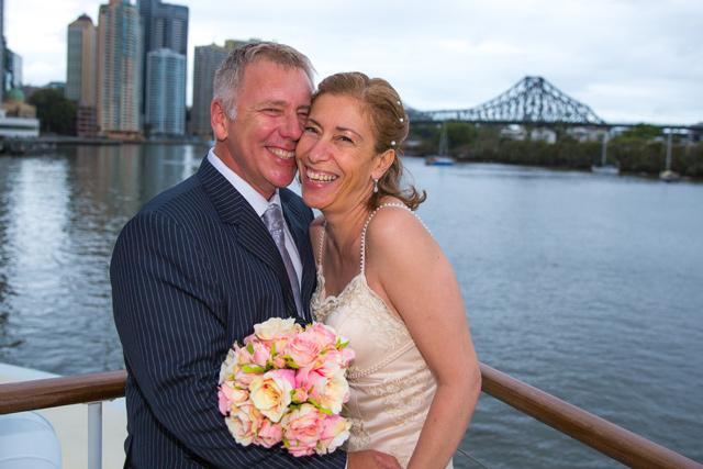 View from a Rooftop Wedding on board Kookaburra Queen I