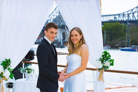 Rooftop wedding ceremony with magnificent views Kookaburra Queens