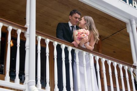 Bride and Groom on board Kookaburra Queen Brisbane