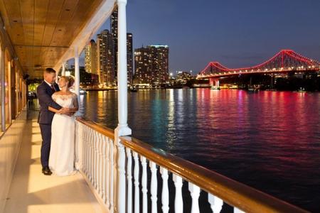 Beautiful city lights and loving couple