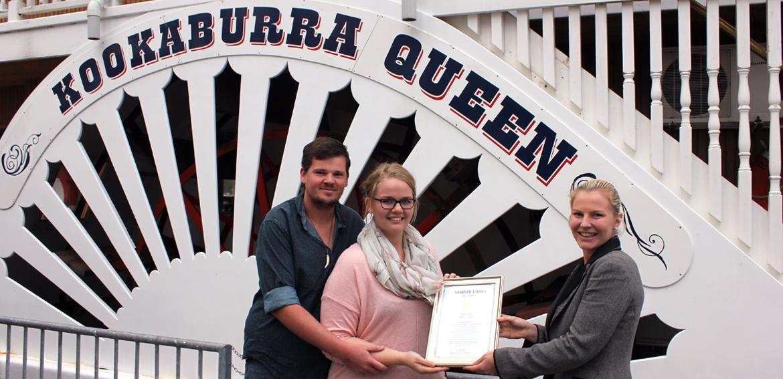 Kookaburra-Queen-Win-A-Wedding-prize-ceremony